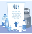 Different Milk products set on blue background vector image vector image