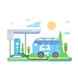 Electric vehicle charging vector image vector image