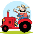 Farmer on tractor vector image vector image