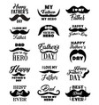 father day lettering quotes vector image