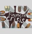 financial economic crisis busines destruction of vector image