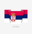 flag of serbia flat icon waving flag with country vector image