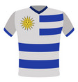 flag t-shirt of uruguay vector image