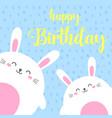 funny cartoon card with hare happy birthday vector image vector image