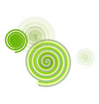 geometric conceptual background twirl circle vector image vector image