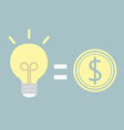 good idea for money vector image vector image