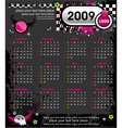 Grunge emo calendar for 2009 vector | Price: 1 Credit (USD $1)