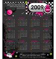 grunge emo calendar for 2009 vector image vector image