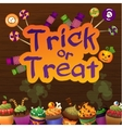 Happy Halloween Trick or Treat Greeting Card Wiht vector image vector image