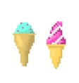 Ice cream on stick style of pixel art vector image