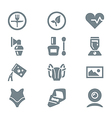 icon set different household objects gray vector image vector image