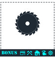 industrial saw icon flat vector image vector image