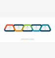 infographic timeline template with 5 steps vector image vector image