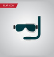 isolated aqualung flat icon scuba diving vector image