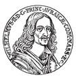 king william ii rufus of england vintage vector image vector image