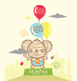 koala playing baloons vector image vector image