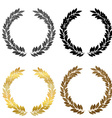 Laurel wreath collection vector image