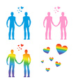 LGBT silhouettes Same-sex love Gays and lesbians vector image vector image