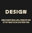 luxury font unusual english alphabet vector image