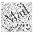MLM E Mail Newsletters and What You Need for vector image vector image