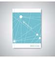 Modern abstract template layout for brochure vector image