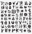 music symbols - icon set design elements vector image