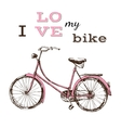 poster with hand drawn bicycle vector image vector image