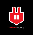 power house logo vector image