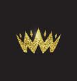 queen crown royal gold headdress king golden vector image vector image