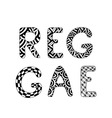 Reggae Text isolated on white background vector image vector image
