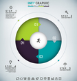 Round Infographic vector image vector image