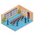 security systems isometric composition vector image vector image