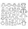 set children clothing vector image vector image