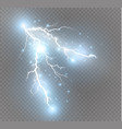 set of lightnings magic and bright lighting vector image