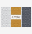 set of minimalist seamless patterns hexagonal vector image vector image