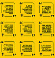 Set of motivational quotes about love moments vector image vector image