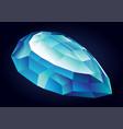 shiny beautiful aquamarine vector image vector image