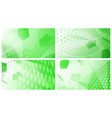 soccer backgrounds in green colors vector image vector image