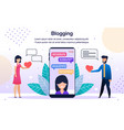 social network audience poster template vector image vector image