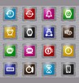 time glass icons set vector image
