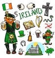 Travelling attractions - Ireland vector image vector image