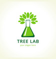 tree lab logo vector image