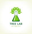 tree lab logo vector image vector image