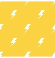 White lightnings yellow seamless pattern vector image vector image