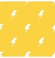 white lightnings yellow seamless pattern vector image vector image
