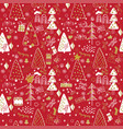 winter christmas forest creative background vector image vector image