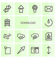 14 download icons vector image vector image