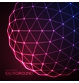 3D illuminated sphere of glowing particles vector image vector image