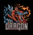 a dragon from japanese culture that gives off vector image vector image