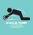 Ab Roller Trainer Symbol vector image